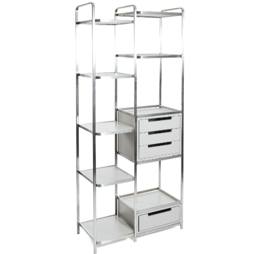 Light Grey Platinum Floor Standing Salon Retail Unit by Premier