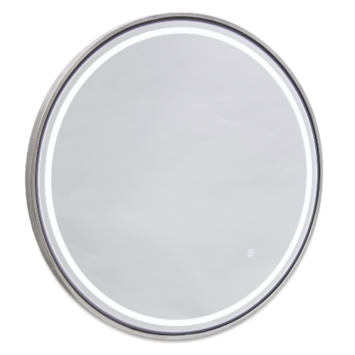 Platinum Round Wall Salon Mirror by SEC