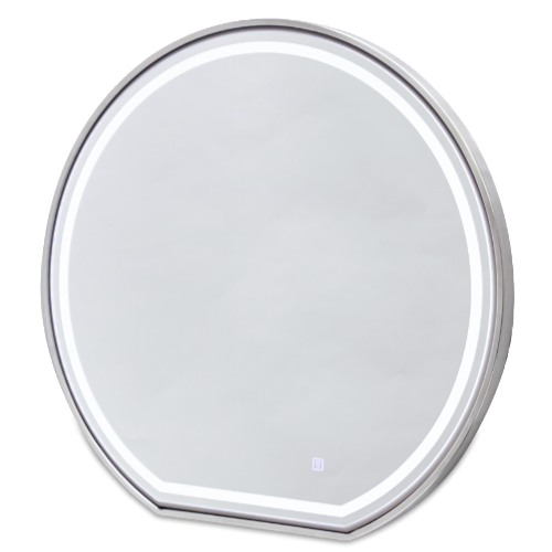 Platinum Round Salon Mirror by SEC
