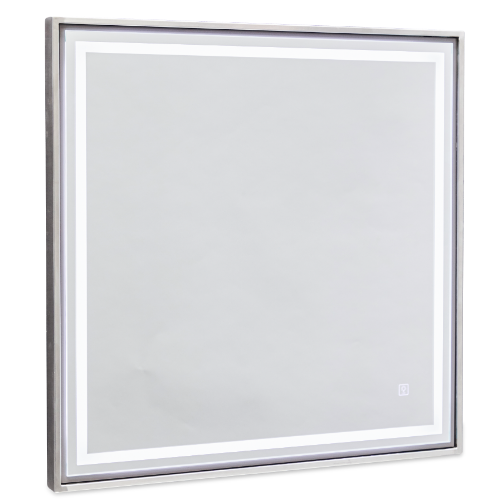 Platinum Square Salon Mirror by Premier