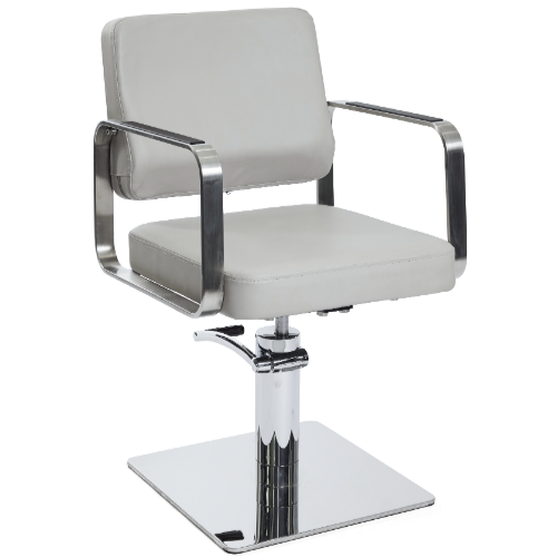 Light Grey Platinum Square Salon Styling Chair by SEC