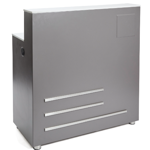 Dove Grey Platinum Salon Reception Desk by SEC