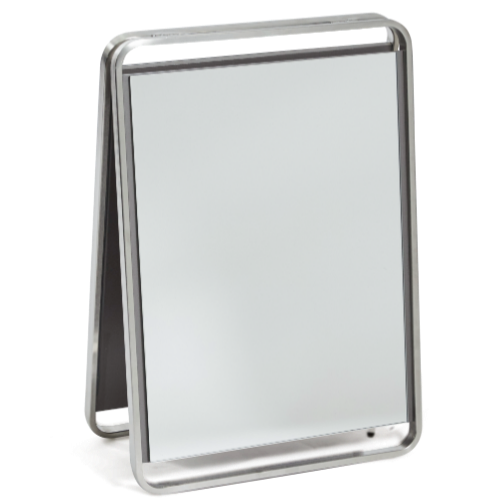 Platinum Double Sided Portable Mirror by Premier