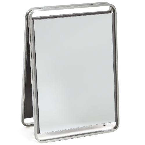 Platinum Double Sided Portable Mirror by SEC