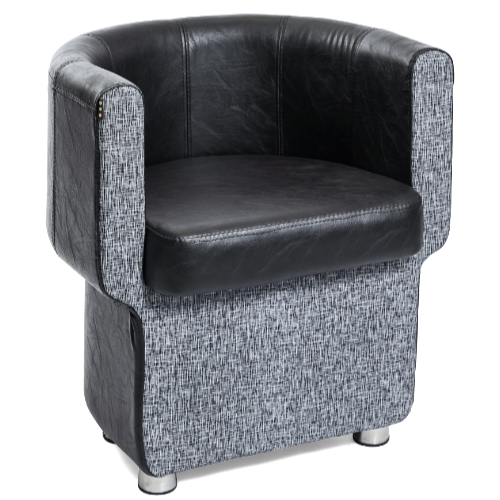 Grey & Black Pod Salon Waiting Seat by BEC