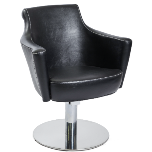 Black Sandhurst Salon Styling Chair by SEC