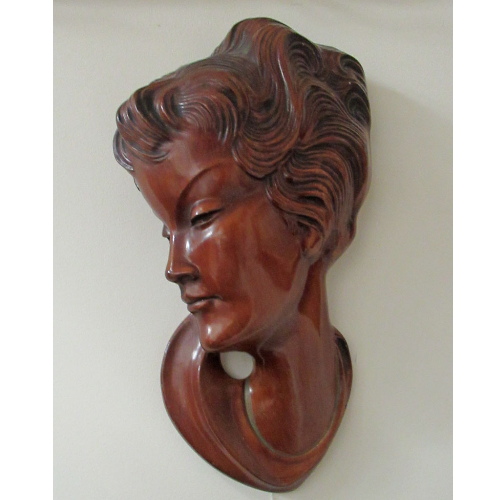 Vintage Lady Hair Plaque VIN131D