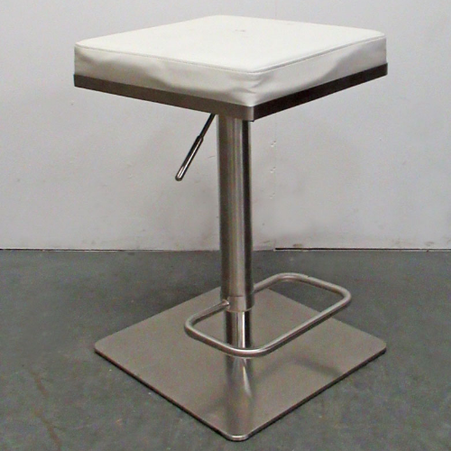 Used White Square Stool BF34H