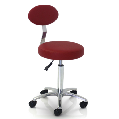 Cutting Salon Stool with Backrest by REM