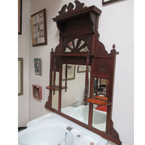 Vintage Barber Mirror Wall Unit VIN341L