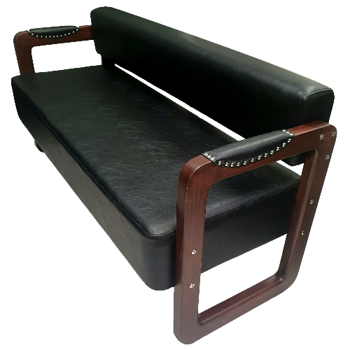 Western Barber Waiting Bench by BEC