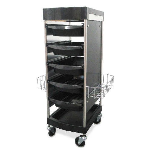 Black Standard Salon Trolley by SEC