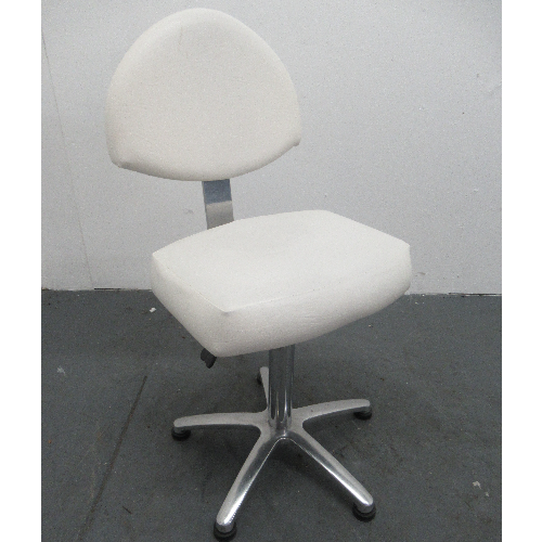 Used White Salon Stool by - BF64B