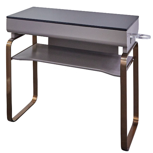 Warm Grey Copper Canterbury Salon Base Unit by SEC