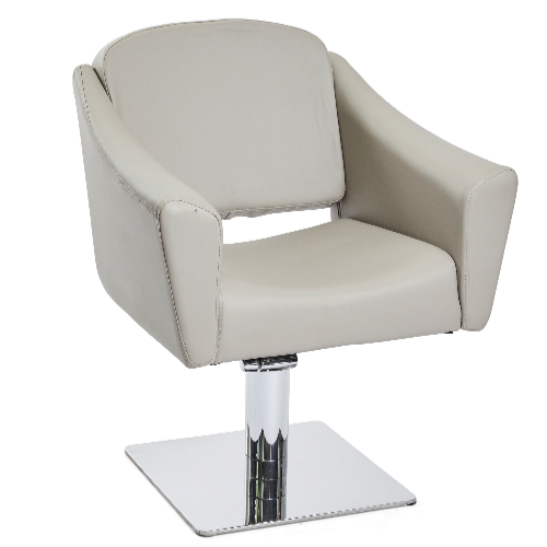 Light Grey Empress Salon Styling Chair by SEC - End of Line