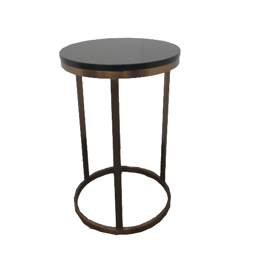 Copper Canterbury Round Salon Coffee Table by SEC