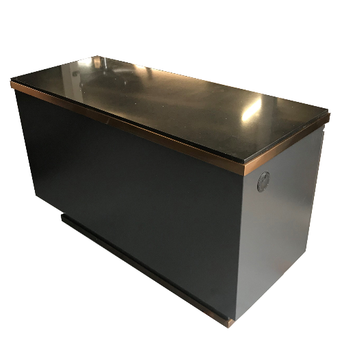 Dark Charcoal Copper Canterbury Salon Reception Desk by BEC - DUE MID JULY