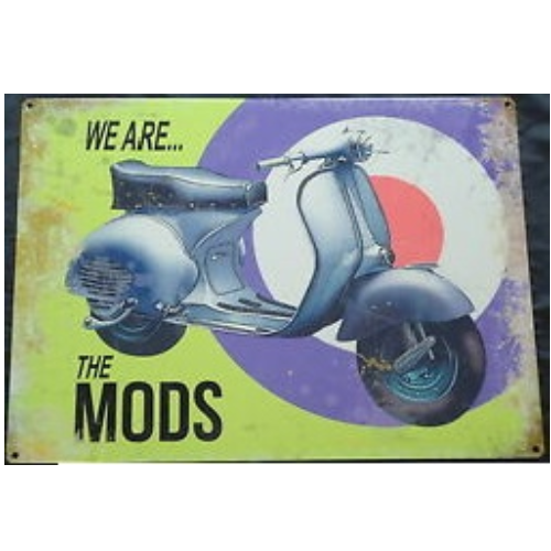New We Are The Mods Tin Sign - Clearance
