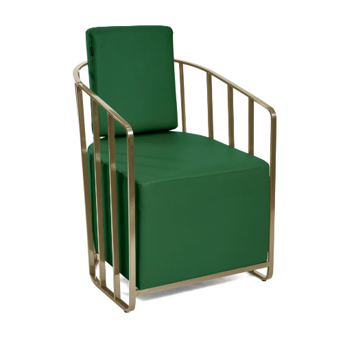 Gold Cage Salon Waiting Seat by SEC