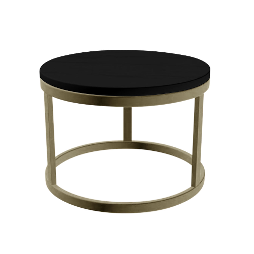 Gold Round Salon Coffee Table by SEC