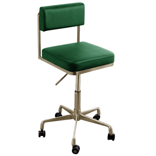 Gold Square Salon Stool with Backrest by SEC