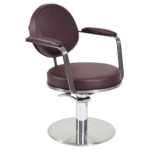 Graphite Round Salon Styling Chair by SEC
