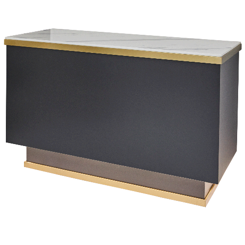 Gold Salon Reception Desk by SEC