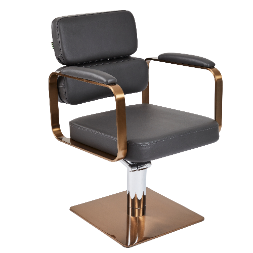 VIP Copper Canterbury Square Salon Styling Chair by SEC