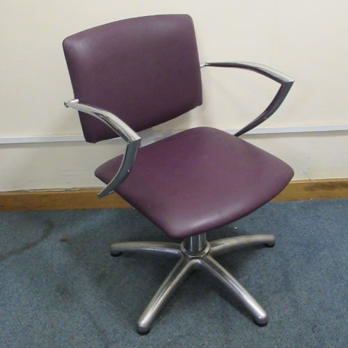 Used Purple Atlas Salon Styling Chair by REM - BG52A