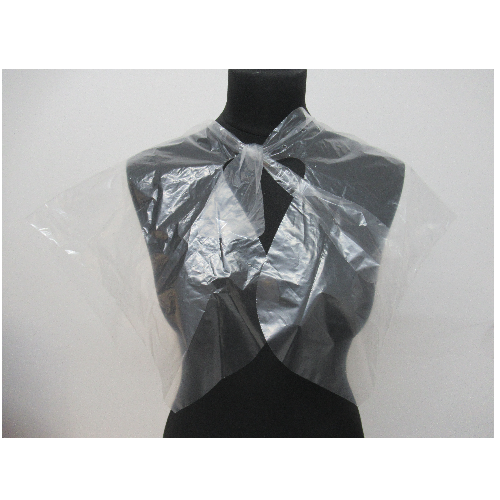 Disposable Clear Salon Shoulder Capes by SEC - 100 Pack