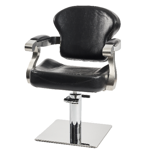 Black Michigan Salon Styling Chair by SEC - Imperfect Stock