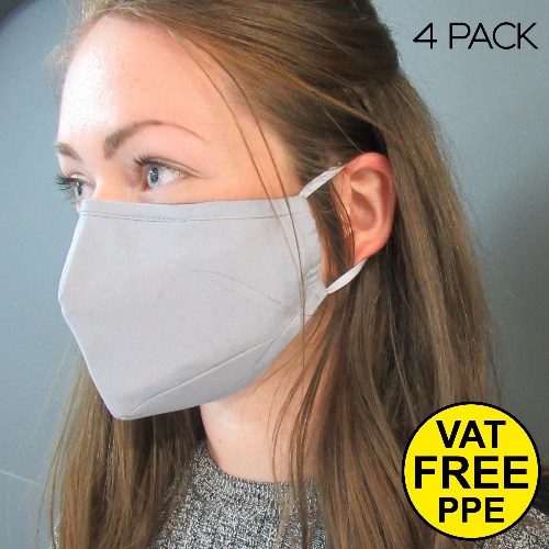Copper Infused Reusable Face Masks by SEC - 4 Pack