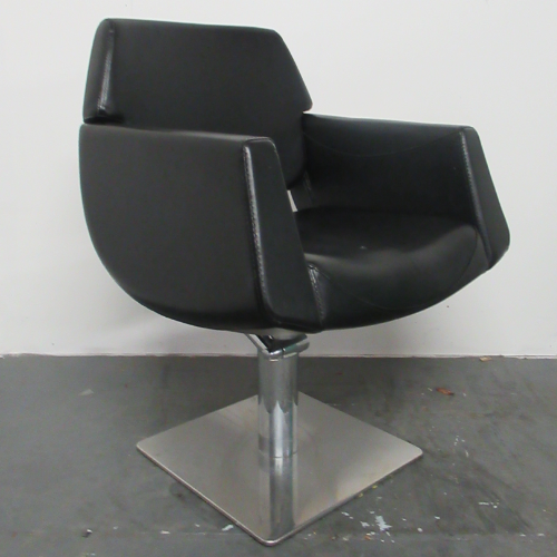 Used Black Lunar Pod Salon Styling Chair by SEC BG82A