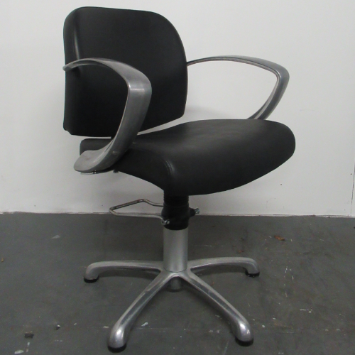 Used Black Evolution Salon Styling Chair by REM - BG87B
