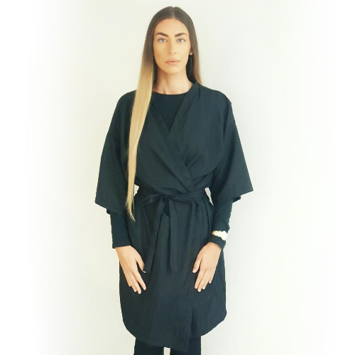 Black Value Reusable Kimono Salon Gown by SEC