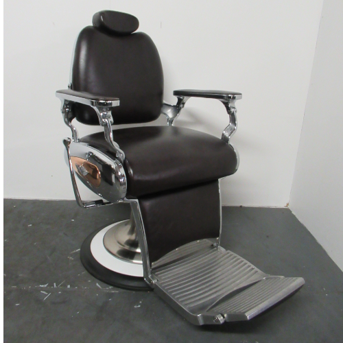 Used Brown Legion Barber Chair by BEC  BH03A