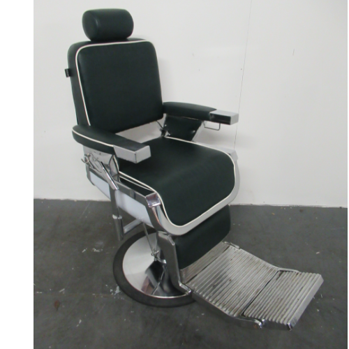 Used Green Emperor Barber Chair by REM BH05C- GRADE 1