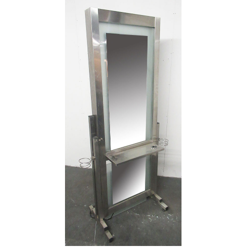 Used Chrome Salon Styling Island Unit - BH05F