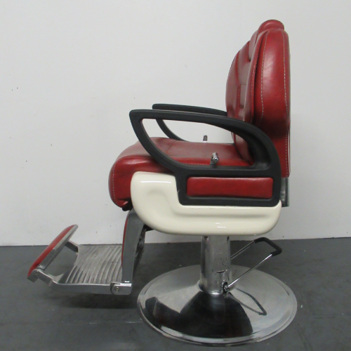 Used Red Shadow Barber Chair by BEC  BG49C - GRADE 2