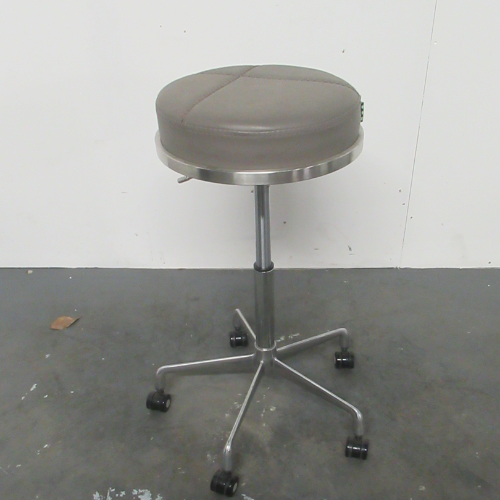Dove Grey Platinum Round Salon Stool by SEC - CLEARANCE