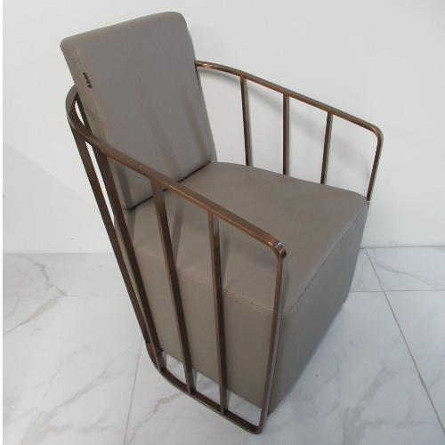 Copper Canterbury Cage Salon Waiting Seat by SEC - CLEARANCE