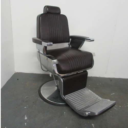 Used Brown Kansas Barber Chair by BEC  BG94A - GRADE 2