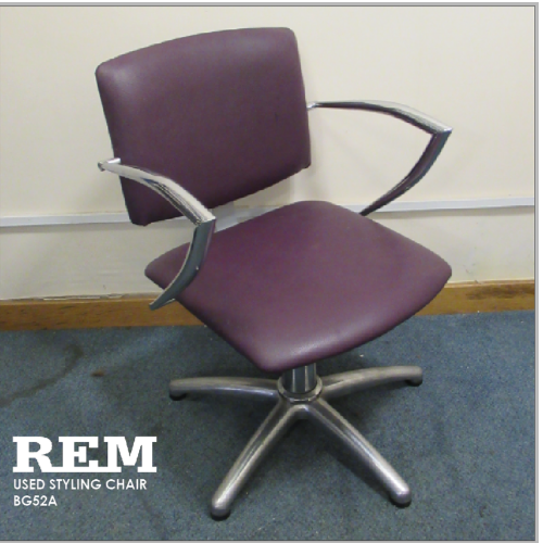 Used Purple Atlas Salon Styling Chair by REM BG52A- GRADE 2
