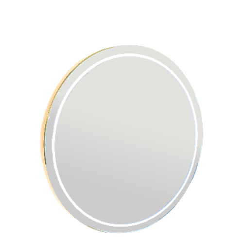 Gold Round Styling Mirror Only By SEC