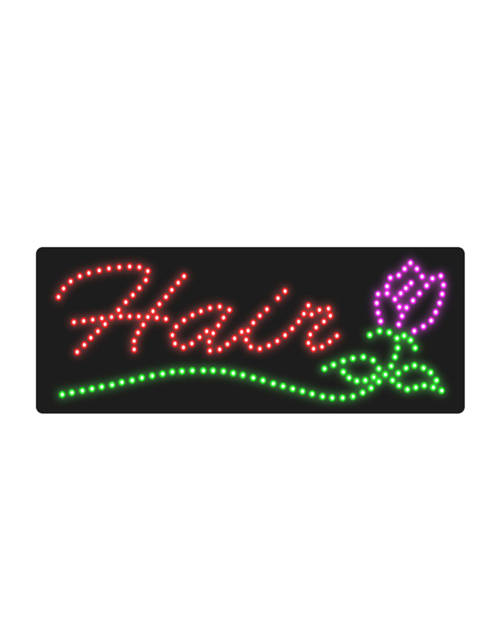 LED Hair Sign by SEC - Clearance