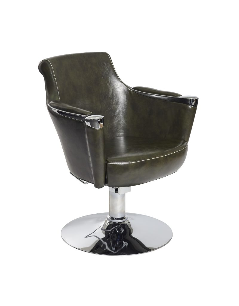 Green Sandhurst Salon Styling Chair by SEC - Clearance