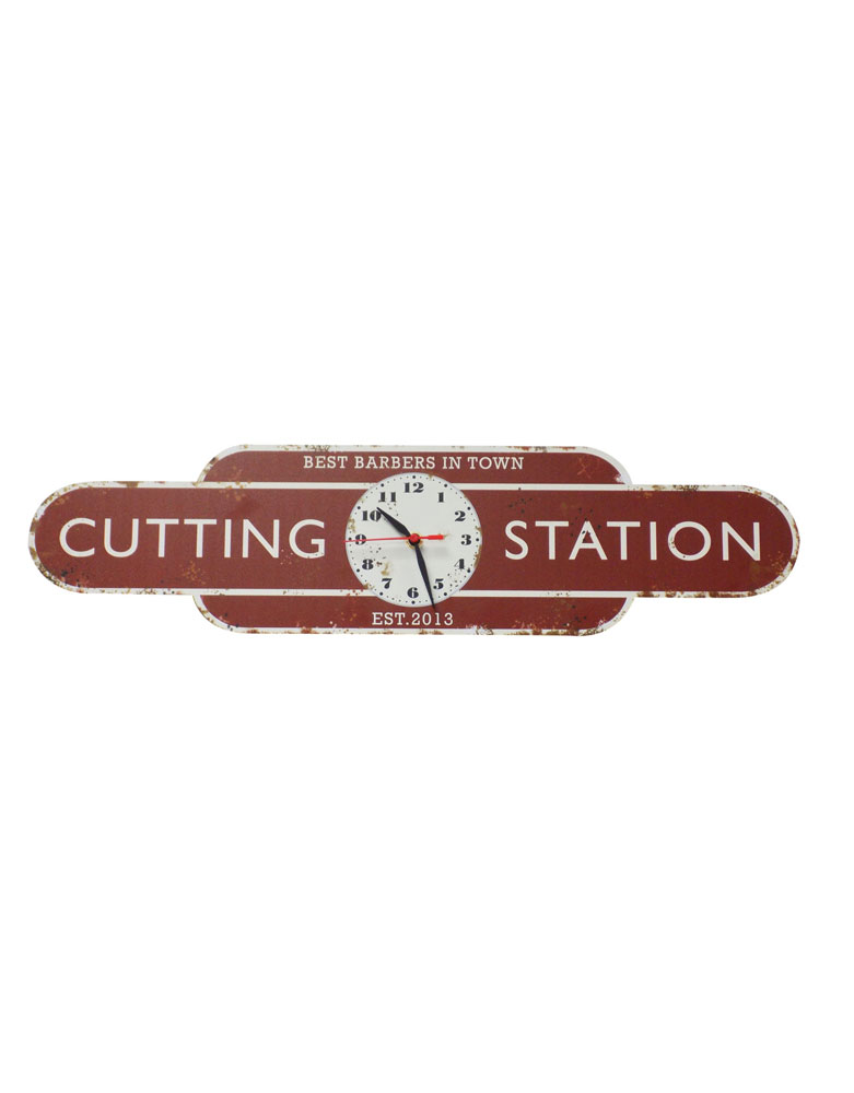 Personalised Rusty Style Railway Station Totem Clock