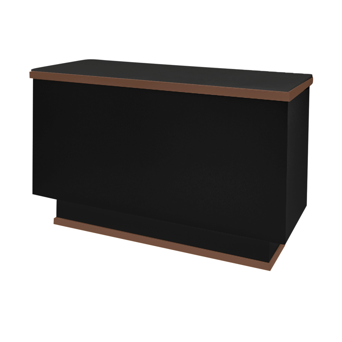 Metal Trim Reception Desk